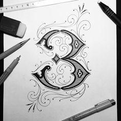 Hand lettering by typo_steve Chicano Lettering, Hand Lettering Art, Creative Lettering, Lettering Styles, Lettering Design, Lettering Ideas, Tattoo Fonts Alphabet, Typography Alphabet, Graffiti Alphabet