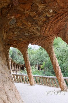 Ramp of the Portico Parc Güell Gaudi Barcelona Catalonia