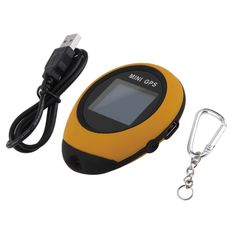 Handheld Keychain Mini GPS Navigation USB Rechargeable For Outdoor Sport Travel Yellow New Dropping Shipping Global Positioning System, Mini Gps Tracker, Tracking System, Gps Navigation, Security Camera, Usb, Ebay, Sport, Things To Sell