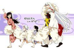 Inuyasha Funny, Rin And Sesshomaru, Inuyasha And Sesshomaru, Inuyasha Fan Art, Kagome And Inuyasha, Japanese Show, Neon Genesis Evangelion, Animation, Anime Manga