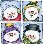 Snowmen Images to use for painted rocks.  Check out the site for more cute patterns.   whippersnapperdesigns.com