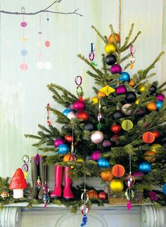 trim the christmas tree bright and colorful