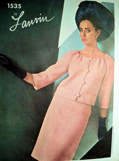 Vintage 1960 Vogue Paris Original 1535 Lanvin 2 Pc by ALadiesShop, $125.00