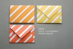 Free fall colored printable envelopes