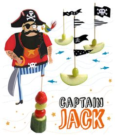 www.moodkids.nl - daily inspiration for creative parents. DIY - Bento - Trends for kids - free printables - party treats - healthy kids snack captain jack - pirates
