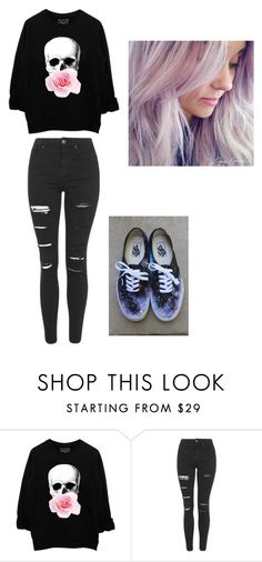 """""""Skull"""" by tinydanceroriginal-1 on Polyvore featuring Topshop, Vans, women's clothing, women's fashion, women, female, woman, misses and juniors"""