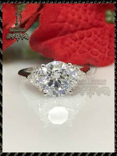 They are bright and sparkly and display more fire than the best grade of diamonds as shown in the table below. The only small drawback is that it is not as hard as natural diamond. Big Diamonds, Natural Diamonds, Engagement Bands, Solitaire Engagement, Moissanite Diamonds, Jewelry Party, Diamond Shapes, White Gold, Wedding Rings