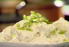 Tolan's Mom's potato salad via Tyler Florence. The best potato salad. Other Recipes, Great Recipes, Favorite Recipes, Interesting Recipes, Tyler Florence Recipes, Food Network Recipes, Cooking Recipes, Grilling Recipes, Florence Food