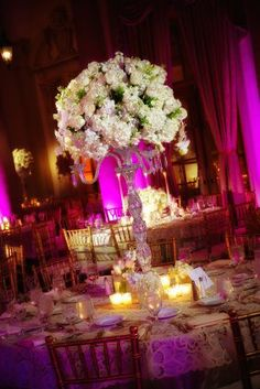 Tall Centerpiece for wedding. Created by Creative Ambiance Events!  www.creativeambianceevents.com