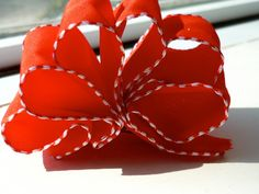 Wedding Fabric Hair Accessory- Red Ribbon Candy- Hair Clip on Etsy, $9.07 AUD