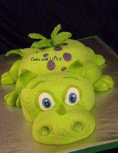 Polymer Inspiration............Dragon Cake :) - by mycakeswithlove @ CakesDecor.com - cake decorating website