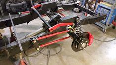 Scott's Hotrods – 4 Link Suspension – Scottshotrods Cantilever Suspension, Suspension Bar, Suspension Design, Jeep Rat Rod, Rat Rod Pickup, C10 Chevy Truck, Chevy Pickups, Lifted Trucks, Ford Trucks