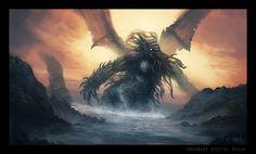 Cthulhu Rising by ReneAigner.deviantart.com on @deviantART