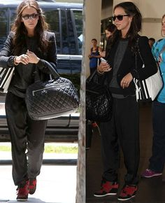 Jennifer Love Hewitt wears black and red Ash Bowie wedge trainers sneakers #wedgesneakers #outfit #fashion