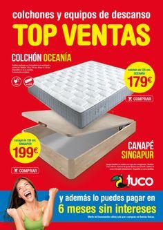 Nueva colección de muebles Tuco. Y paga en 6 meses sin intereses (solo tiendas físicas). Hasta 30/06/2016. Más info en www.tuco.net/