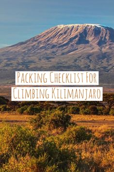 Wondering what to pack for Kilimanjaro? Check out our packing list to see everything that you need to bring! #packinglist #kilimanjaro #sevensummits #trekking #treks #tanzania