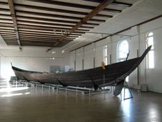 The Nydam Boat. The oak boat is considered the oldest Nordic shipfind and the oldest known clinker built boat. It is 23 m long, c 4 m wide, of clinker type, and built for 15 pairs of oars. It's the largest and best preserved of the boats found in Nydam Bog and is now displayed at Gottorp Castle in Schleswig. It once weighed over three tonnes and was rowed by thirty men.