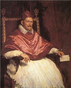 Portrait of Pope Innocent X - Diego Velazquez