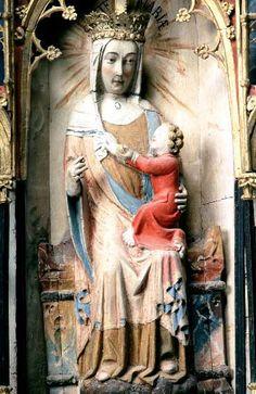 Altarpiece Madonna and the child Lärbro, region of Gotland, Sweden 1350-1375