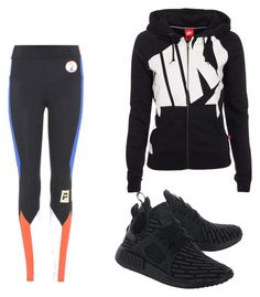 """Untitled #1279"" by giselaturca on Polyvore featuring adidas Originals, P.E Nation and NIKE"
