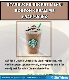 Starbucks Secret Menu: Boston Cream Pie Frappuccino