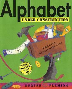 alphabet under construction book with extension idea of rubbing alphabet
