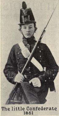 """""""James Dinkins...was sent by his parents to Charlotte, North Carolina Military Institute. He reached there very near his fifteenth birthday. He entered the Confederate Army when he was barely sixteen years of age, was in the first battle of the war and almost the last....He died July 19, 1939, 94 years old."""" Served in the 18th Mississippi Infantry and the 18th Mississippi Cavalry. One of the few veterans recorded giving a Rebel yell: http://youtu.be/s6jSqt39vFM"""