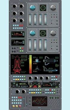 Spaceship Control Panel Picture | Spaceship Control Panel Peel and Stick Wall Mural - Wall Sticker ...