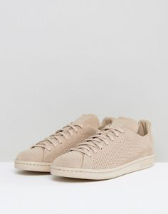 adidas Originals Stan Smith Primeknit Sneakers In Beige BZ0121 - Beige