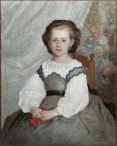 pierre-auguste renoir(1841-1919), romaine lacaux, 1864. oil on fabric, 106.68 x 89.22 cm. the cleveland museum of art, ohio, usa http://www.clevelandart.org/art/1942.1065