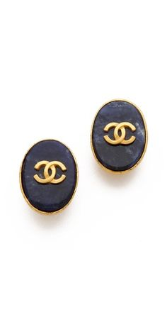 Check out these vintage clip -on #Chanel oval earrings $770, get it here: http://rstyle.me/~91Jv