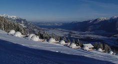 Hotel Whitepod Resort, un paraíso en los alpes suizos http://www.icono-interiorismo.blogspot.com.es/2015/02/hotel-whitepod-resort-un-paraiso-en-los.html