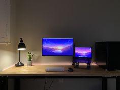 Minimal WFH Macbook  Desktop PC Setup - first battlestation Macbook Air Stickers, Macbook Desktop, Gaming Desk, Computer Setup, Pc Setup, Desk Setup, Xbox, Work Desk, Amazon Deals