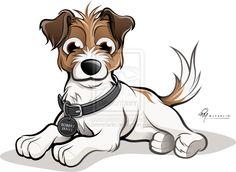 Jack Russells Caricature - 'Robert James' by timmcfarlin