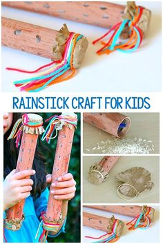 Make your own rainstick instrument craft using cardboard tubes and explore the science of sound at the same time! Fun for kids of all ages! crafts for kids Creative Activities For Kids, Science For Kids, Craft Activities, Diy For Kids, Cool Kids, Music Activities For Kids, Kids Crafts, Preschool Crafts, Arts And Crafts