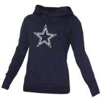 NFL Dallas Cowboys Womens Pink Victorias Secret Pullover Hoodie with Rhinestones