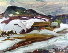 Sur la vieille route Sculpture, Objet D'art, Painting, Michael Angelo, Canadian Horse, Fine Art Paintings, Snow, Classic, Objects