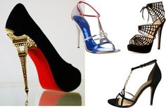 'French Heels' Eiffel Tower as inspiration for womens shoes