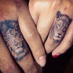 Tatouage Asiatique Lion Couple - www.allotattoo.com