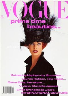 Linda Evangelista photographed by Patrick Demarchelier for Vogue.