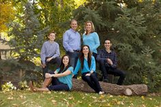 family pictures all in blue