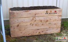 Cypress Sleeper Veggie Garden Beds - Leaf, Root & Fruit Gardening Services Hawthorn