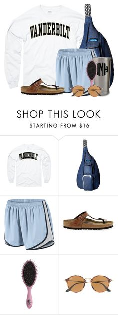"""GOING TO SEE PUPPIES"" by flroasburn ❤ liked on Polyvore featuring Kavu, NIKE, Birkenstock, Topshop and Ray-Ban"