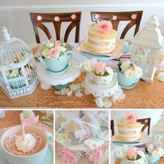We're delighted💕🌺 with this vintage tea party bridal shower by The details on this party are so feminine and beautiful. Click the link to see all of the party. Fiesta Baby Shower, Bridal Shower Tea, Tea Party Bridal Shower, Shower Party, Baby Shower Parties, Baby Showers, Bridal Showers, Toddler Tea Party, Girls Tea Party