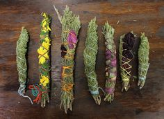 Its easy to make your own Smudge Bundles