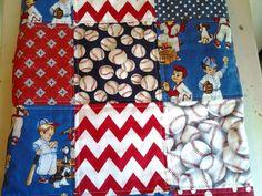 Baseball Baby Boy Quilt All American Boy Baseball Crib Quilt Baseball Star Stroller Blanket, Baseball Nursery Bedding by ModernMeetsClassic on Etsy https://www.etsy.com/listing/192655220/baseball-baby-boy-quilt-all-american-boy
