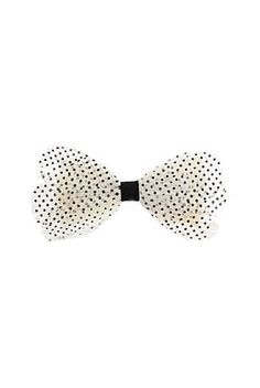 I must have this! Polka Dot Feather Bow Clip @TopShop