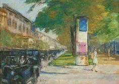 Lesser Ury - Unter den Linden 1925