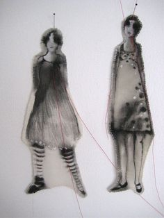 WIEN DE GRAAF fabric dolls; 'together'