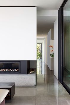 Okada Marshall House by D'Arcy Jones Architects - MyHouseIdea White Interior, Wood Supply, Large Windows, Home, Windows And Doors, Interior, House, Small Places, House Front